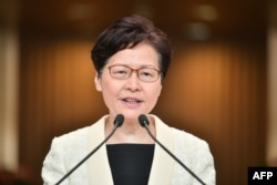 La gobernadora de Hong Kong Carrie Lam (Foto: Anthony Walllace/AFP).