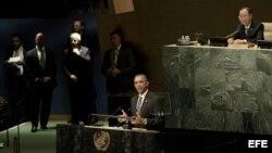 El presidente de EEUU Barack Obama, en Naciones Unidas (27 de septiembre, 2015).