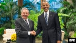 Obama en el Palacio de la Revolución