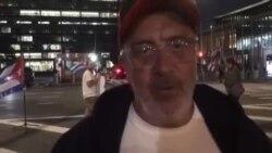 El español Nacho Rocha en huelga de hambre frente a la sede de Naciones Unidas, en Nueva York