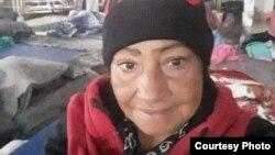 Onelia Alonso en el refugio Senda de Vida.