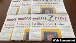 Exhibición de los primeros ejemplares impresos del periódico ZoePost.