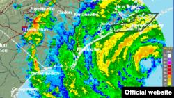 Imagen de radar Huracán Florence, CNH