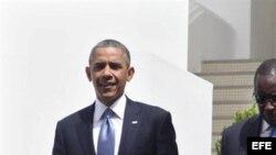 El presidente de Estados Unidos, Barack Obama en Dakar (Senegal), hoy, jueves 27 de junio de 2013.