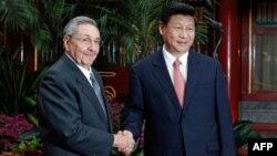 Raúl Castro y Xi Jinping en Beijing. Foto Archivo NG HAN GUAN / POOL / AFP