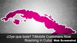 T-Mobile promociona su servicio de llamadas, mensajes y data bajo el roaming internacional en Cuba.