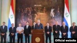 El presidente de Paraguay Mario Abdo se dirige a la nación para anunciar la ruptura de relaciones diplomáticas con Venezuela.