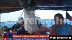 Balseros cubanos rescatados en Honduras. Foto Archivo.