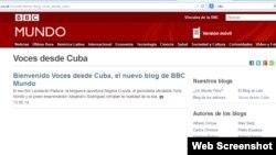 Voces desde Cuba, blog de BBC Mundo.