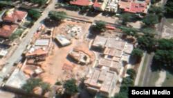 Imágenes satelitales de la zona del Vedado durante las construcción del Centro FCR.