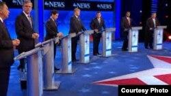 Debate republicano en New Hampshire.