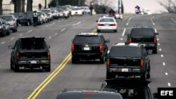 Fotografía de archivo. La caravana del presidente de Estados Unidos, Barack Obama.