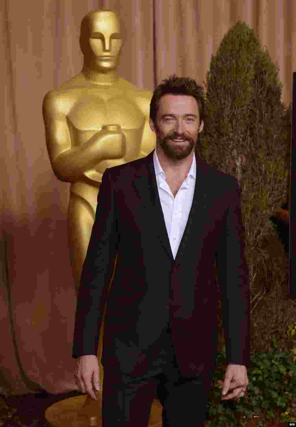 El actor australiano Hugh Jackman. Nominado al Oscar a Mejor Actor por Los Miserables.