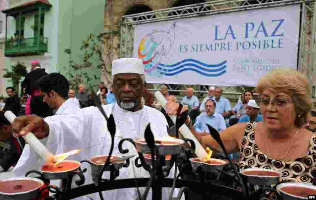 El acto contó con un mensaje del papa Francisco en favor de la convivencia pacífica y la tolerancia de religiosa.