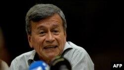 Pablo Beltrán uno de los comandantes del ELN de Colombia refugiados en Cuba