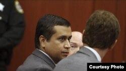 Zimmerman durante el juicio