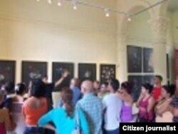 Reporta Cuba Activistas Pinar del Río exposición de pintura Foto Yelky Puig
