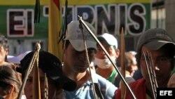 Indígenas piden diálogo directo con el presidente Evo Morales sobre sus demandas.