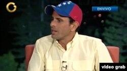 Henrique Capriles ya había declarado que no le regalará más petróleo al gobierno cubano (Imagen: Globovisión).