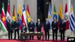 Jefes de Estado que participaron en PROSUR, Santiago de Chila