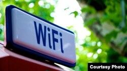 Cartel anunciando una red WIFI. Foto: SimoQ