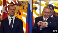 El primer ministro de Rusia, Dimitri Medvédev visitó La Habana en 2013.