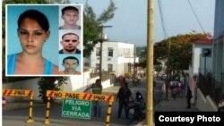 Arriba izquierda: Leidy Maura Pacheco y los tres hombres que la violaron y asesinaron en Junco Viejo, Cienfuegos.