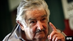 El presidente uruguayo José Mujica, en su residencia a las afuera de Montevideo.