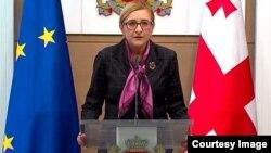 Tamar Beruchashvili, canciller de Georgia.