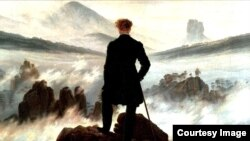 """Wanderer above the sea of fog"" de Caspar David Friedrich (1774-1840)"