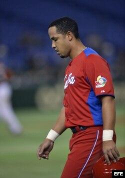 José Dariel Abreu cuando jugaba para el aquipo Cuba.