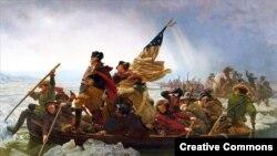 """Washington cruzando el Delaware"" obra de Emanuel Gottlieb Leutze."