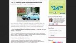 Bloguero cubano publica lista de prohibiciones absurdas