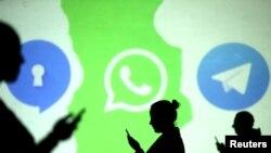 Logos de las apps Signal, Whatsapp y Telegram. REUTERS/Dado Ruvic/Illustration