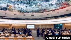 Visa del Consejo de Derechos Humanos de la ONU. Tomado de @humanrightscouncil