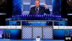 Tim Kaine, en el tercer día de la Convención Nacional Demócrata 2016
