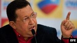 Fotografía de archivo del presidente Hugo Chávez.