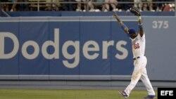 El cubano Yasiel Puig de los Dodgers deLos Angeles.