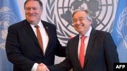 El secretario de Estado Mike Pompeo, se reunió con el secretario general de la ONU, Antonio Guterres.