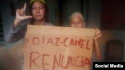 Hortensia Alfonso Vega (izquierda), en una foto de diciembre de 2020. (Foto: Facebook)