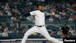 Aroldis Chapman de los New York Yankees.