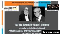 Rafael Almanza, en Cuba, y Ángel Cuadra, en el exilio, ganan Premios Gastón Baquero.