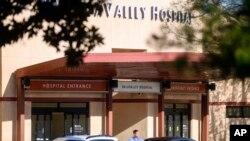 Fachada del NorthBay VacaValley Hospital, donde una mujer fue diagnosticada con el coronavirus.