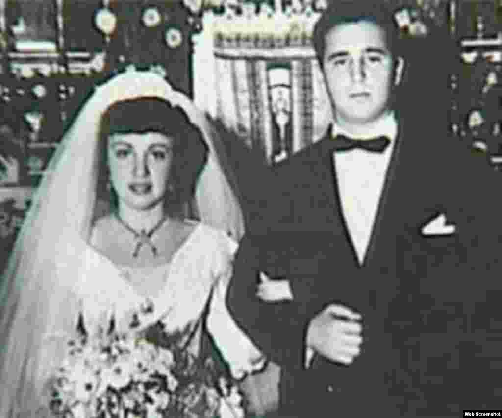 """Fidel Castro y Mirta Díaz-Balart, padres de Fidel Angel Díaz-Balart.""""Fidelito"""" nació en 1949 del breve matrimonio de su padrecon Mirta Díaz-Balart."""