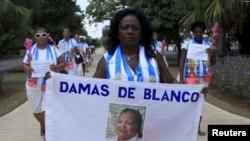 Berta Soler, líder de las Damas de Blanco, en una imagen de archivo.
