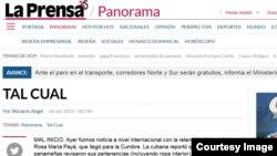 "Diario ""La Prensa"" de Panamá."