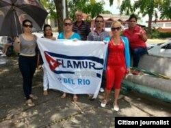 Reporta Cuba Activistas en Pinar del Río este 8 de agosto antes de la detención