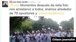 Antes del arresto / reporta cuba / foto Iván Hernández.