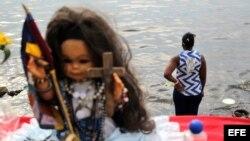 Procesión de la Virgen de Regla, que se sincretiza con Yemayá (diosa de las aguas en la religión Yoruba) en los cultos afrocubanos, en La Habana (Cuba)