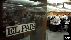Redacción del diario El País, en Madrid, España